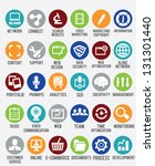 set of internet services icons  ... | Shutterstock .eps vector #131301440