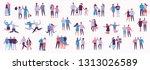illustration with happy cartoon ... | Shutterstock .eps vector #1313026589