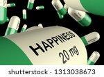 3d illustration antidepressant... | Shutterstock . vector #1313038673