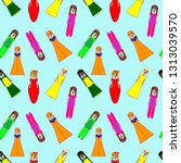 vector seamless pattern with... | Shutterstock .eps vector #1313039570