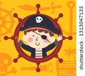 illustration of a kid boy... | Shutterstock .eps vector #1313047133