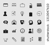 set of standard and universal... | Shutterstock .eps vector #1313047610