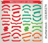 Ribbon Banners Vector Collection | Shutterstock vector #131305274
