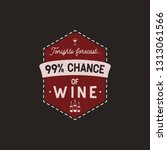 wine logo badge template with... | Shutterstock .eps vector #1313061566