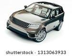 3d render of luxury suv car | Shutterstock . vector #1313063933