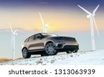 3d render of luxury suv car | Shutterstock . vector #1313063939