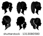 collection. silhouette of the... | Shutterstock .eps vector #1313080580