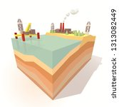 infographic depicts oil... | Shutterstock .eps vector #1313082449