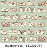 vintage cameras background... | Shutterstock .eps vector #131309039