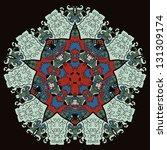 oriental mandala motif round... | Shutterstock .eps vector #131309174