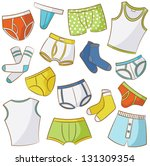 male underwear doodle icon set   Shutterstock .eps vector #131309354