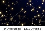 constellation map. magic cosmic ... | Shutterstock .eps vector #1313094566