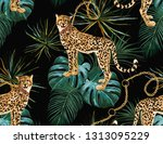 beautiful seamless vector...   Shutterstock .eps vector #1313095229
