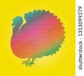 turkey flat vector | Shutterstock .eps vector #1313099279