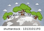world forest preservation and... | Shutterstock .eps vector #1313101193
