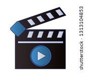 cinema clapboard video symbol | Shutterstock .eps vector #1313104853