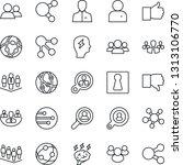 thin line icon set   female... | Shutterstock .eps vector #1313106770