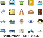 color flat icon set house... | Shutterstock .eps vector #1313108039