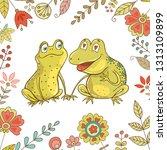 Two Cute Frogs Fallen In Love....