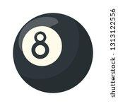pool eight ball cartoon   Shutterstock .eps vector #1313122556