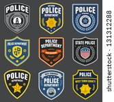Set of police law enforcement badges and logo patches | Shutterstock vector #131312288