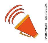 bullhorn volume symbol | Shutterstock .eps vector #1313127626