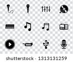 vector sound music icons set  ... | Shutterstock .eps vector #1313131259