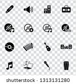 vector sound music icons set - audio, sound and musical equipment. instruments illustrations.