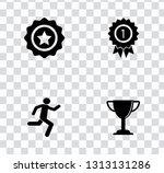 vector winner icons set  award... | Shutterstock .eps vector #1313131286