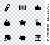 vector sale and shopping icons... | Shutterstock .eps vector #1313131433