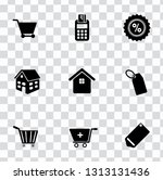 vector sale and shopping icons... | Shutterstock .eps vector #1313131436