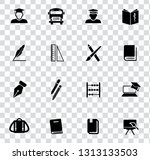 vector school education icons... | Shutterstock .eps vector #1313133503
