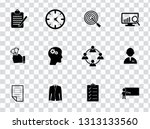 vector management icons set  ... | Shutterstock .eps vector #1313133560