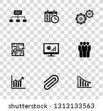 vector management icons set  ... | Shutterstock .eps vector #1313133563