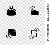 vector investment money icons... | Shutterstock .eps vector #1313133566
