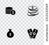 vector investment money icons... | Shutterstock .eps vector #1313133569