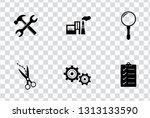 vector industrial icons set  ... | Shutterstock .eps vector #1313133590