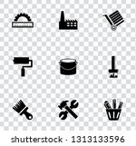vector industrial icons set  ... | Shutterstock .eps vector #1313133596