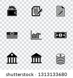 vector financial icons set  ... | Shutterstock .eps vector #1313133680