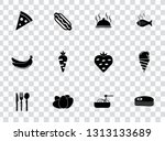 vector food icons set   bakery  ... | Shutterstock .eps vector #1313133689