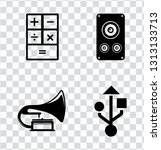 electronic devices illustration ... | Shutterstock .eps vector #1313133713
