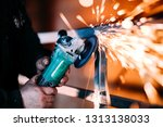 working cutting metal using... | Shutterstock . vector #1313138033