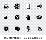 vector communication icons set  ... | Shutterstock .eps vector #1313138873