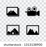 vector photography camera icons ... | Shutterstock .eps vector #1313138900