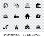 vector building icons set  ...