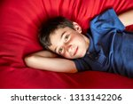 young boy with green eyes... | Shutterstock . vector #1313142206