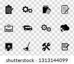 vector customer center and... | Shutterstock .eps vector #1313144099