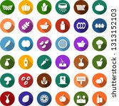 color back flat icon set  ... | Shutterstock .eps vector #1313152103