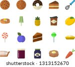 color flat icon set cake flat... | Shutterstock .eps vector #1313152670