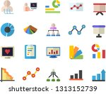 color flat icon set color...   Shutterstock .eps vector #1313152739